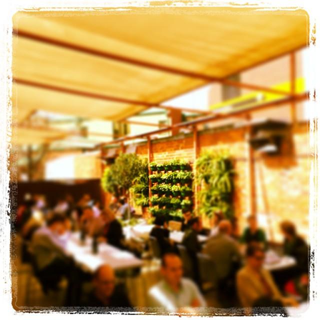 beer garden full